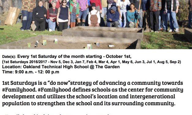 1st Saturdays kicks off at Oakland Technical School October 1st 2016